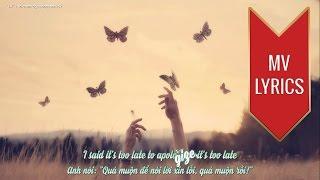 "Video thumbnail of ""Apologize   Timbaland ft. OneRepublic   Lyrics [Kara + Vietsub HD]"""