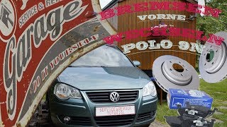 VW Bremsen vorne wechseln VW Polo 9N / Golf 4 / Golf 5 [TUTORIAL]