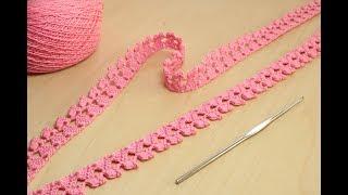Простое ленточное кружево кайма вязание крючком How to Crochet for Beginners
