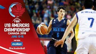 Ecuador v Argentina - Group Phase - Re-Live (ESP) - FIBA U18 Americas Championship 2018