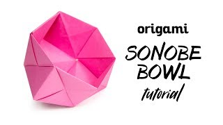 Tutorial Geometri Origami Bowl - Unit Sonobe - Paper Kawaii