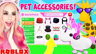 I Got EARLY ACCESS To Buy ALL THE *NEW* PET ACCESSORIES In Adopt Me...Pet Accessories Adopt Me