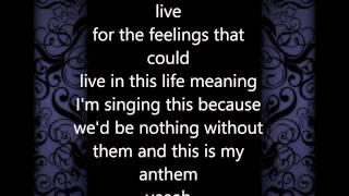 Christina Grimmie - My Anthem - HD Lyrics - NO PITCH