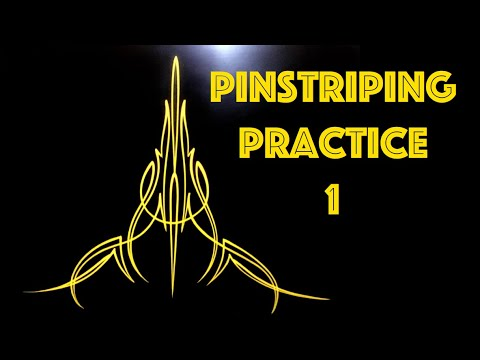 Pinstriping:  Practice session 1