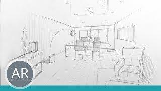 Innenarchitektur Zeichnungen Perspektivisch Zeichnen Lernen