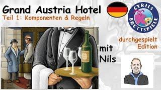 Cyrils Brettspiele - Grand Austria Hotel (S96E01) - Komponenten & Regeln