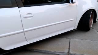"Low VW Golf GTI MK5 9.5"" sawblades leaving driveway"