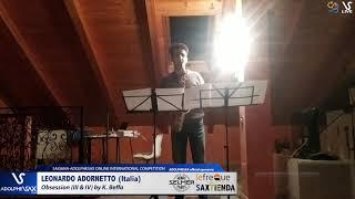 Leonardo ADORNETTO plays Obsession by K. Beffa #adolphesax