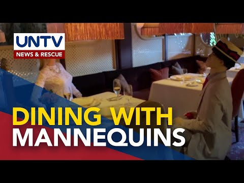 [UNTV]  Michelin 3-star restaurant reopens with life-size mannequins