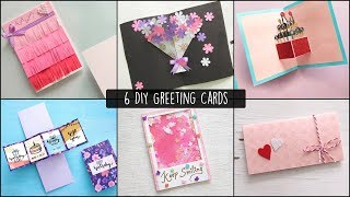 6 Easy Greetings Cards Ideas | Handmade Greeting Cards