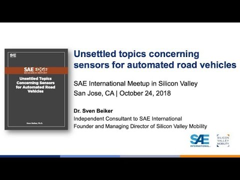 """SAE Meetup """"Sensors for Automated Vehicles"""""""