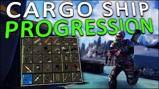 USING the CARGO SHIP to GET MY BLUEPRINTS! - Rust Solo #6