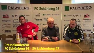 preview picture of video 'Pressekonferenz FC Schönberg 95 - SV Lichtenberg 47'