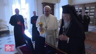 In Vaticano incontro di Papa Francesco con il Patriarca Bartolomeo