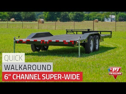 2021 PJ Trailers 6 in. Channel Super-Wide (B6) 20 ft. in Acampo, California - Video 1
