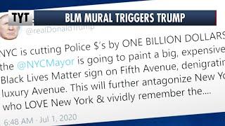 Black Lives Matter Mural TRIGGERS Trump thumbnail