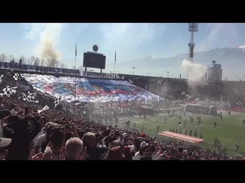 """Salida Colo-Colo vs Universidad de Chile. 25-08-2018"" Barra: Garra Blanca • Club: Colo-Colo"