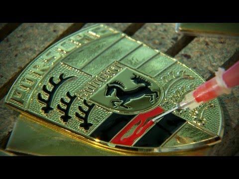 Video: Manufacturing the Porsche Crest — فيديو: صناعة شعار بورش | قبق: آخر أخبار السيارات و ...