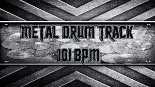 Groovy Metal Drum Track 101 BPM (HQ,HD)