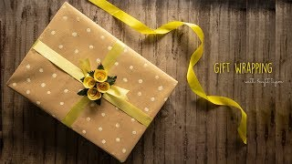 Gift Wrapping With Kraft Paper | Gift Wrapping