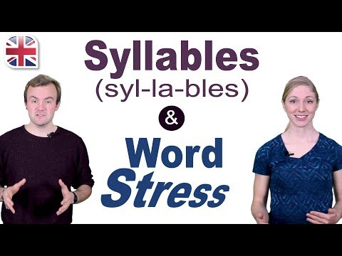 Syllables and Word Stress - English Pronunciation Lesson