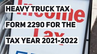 Form 2290 Tax form 2290 online And Schedule 1 Proof Is Due On August 31, 20