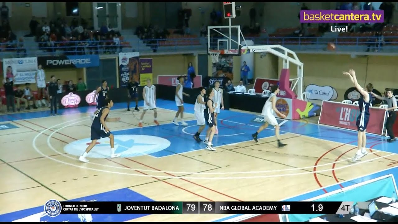 ESPECTACULAR  Final sobre la Bocina JOVENTUT vs NBA GLOBAL ACADEMY - U18 Torneo L´Hospitalet