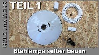 Stehlampe selber bauen DIY - Holz biegen
