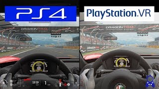Gran Turismo Sport | Playstation VR VS PS4 | Grapchics Comparison | Comparativa