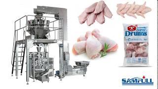 1kg 5kg Frozen Chicken Wings/Chicken Drumsticks Packing Machine Spain Customer Factory