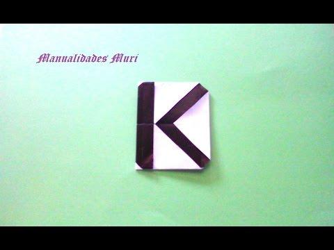 Origami. Alphabet. Letter K / Lettre K / Letra K