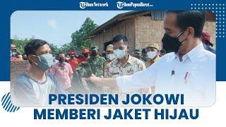 Momen Jokowi Berikan Jaketnya pada Warga yang Bajunya Basah karena Keringat, Ini Kisah Lengkapnya