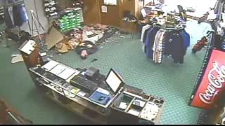 Man Falls Through Golf Shop Ceiling