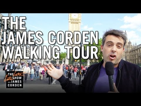 James Corden Walking Tour of London