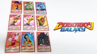 WOW Boboiboy Galaxy Cards