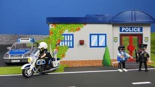 Playmobil Polizei deutsch: Polizeistation mit Dieb & Polizei zum Mitnehmen