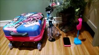 Мои Новогодние подарки. Чемодан Монстер хай, телефон и тд