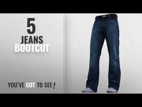 Top 10 Jeans Bootcut [2018]: BNWT Men's Wide Leg Bootcut Flared Blue Heavy Denim Jeans