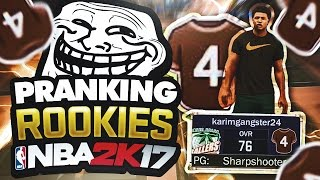 SCARED THIS ROOKIE OUT OF HIS MIND WITH THIS PRANK ON NBA 2K17!!!
