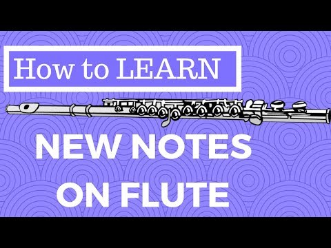 Flute - How to Learn New Notes with a Fingering Chart