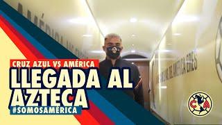 Llegada al Azteca | América vs Cruz Azul | GUARD1ANES 2020