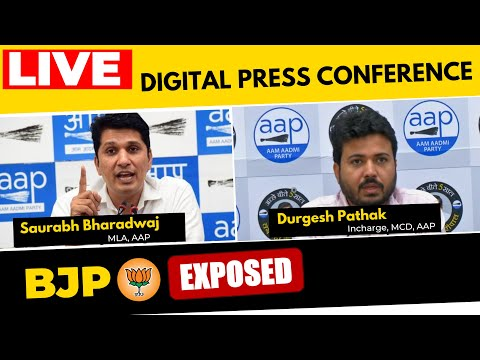 🔴LIVE| Senior AAP leaders Saurabh Bhardwaj & Durgesh Pathak addressing an Important Press Conference