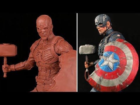 sculpture timeplase captin america by dr garuda
