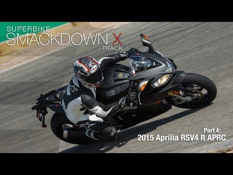 2015 Aprilia RSV4 R APRC - Superbike Smackdown X Part 4 - MotoUSA
