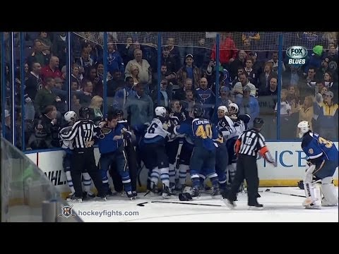 Barret Jackman vs. Blake Wheeler
