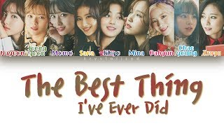 "TWICE (트와이스) ""The Best Thing I Ever Did (올해 제일 잘한 일)"" [HAN