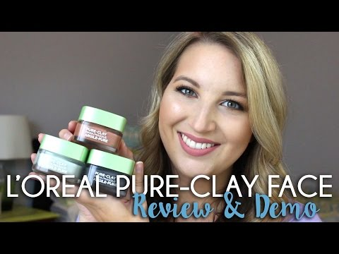 L'Oreal Pure-Clay Face Masks | Review + Demo