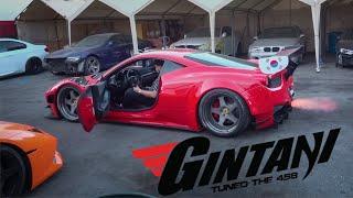 GINTANI TUNED MY FERRARI 458 GT3!!! DAY 1 OF LA TRIP...