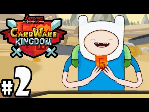 Download Card Wars Kingdom Adventure Time Gameplay Walkthrough PART 2 VS Finn! Bubblegum Lab Android IOS App HD Mp4 3GP Video and MP3