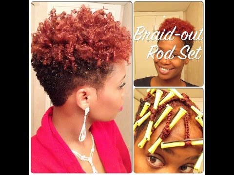 Natural Hair Flexi Rod Set On Tapered Fro Beautycutright Video